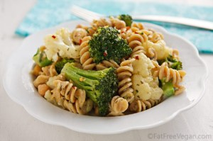 Pasta and Vegetables with White Sauce; Recipe and Photo created by Susan Voisin