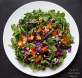 quick arugula and kale salad