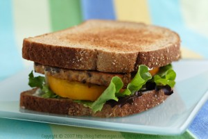Tempeh, Lettuce and Tomato Sandwiches; Recipe and photo by Susan Voisin.