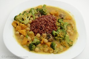 Thai-Style Vegetable Curry; Recipe and Photo Created by Susan Voisin