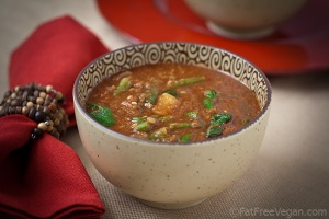 Ethiopian-Inspired Red Lentil Soup; Recipe and Photo by Susan Voisin