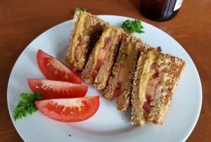 Grilled Hummus Sandwich; Free Vegan Menus