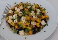 Mexican Tofu and Mango Salsa