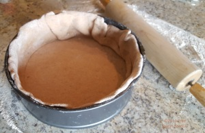 Pizza dough in pan