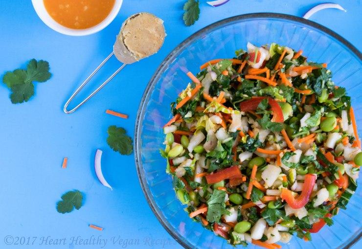 Bok choy and edamame salad