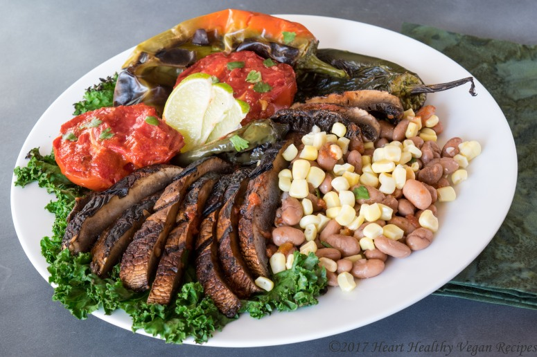 Spicy Mexican Beans with Grilled Vegetables