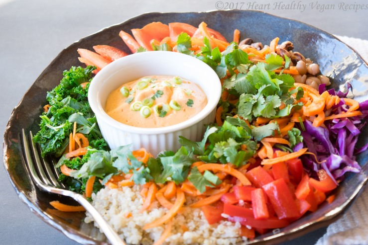 bowl with Creamy Sriracha Sauce