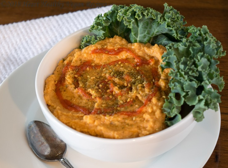 Sriracha and Garlic Hummus