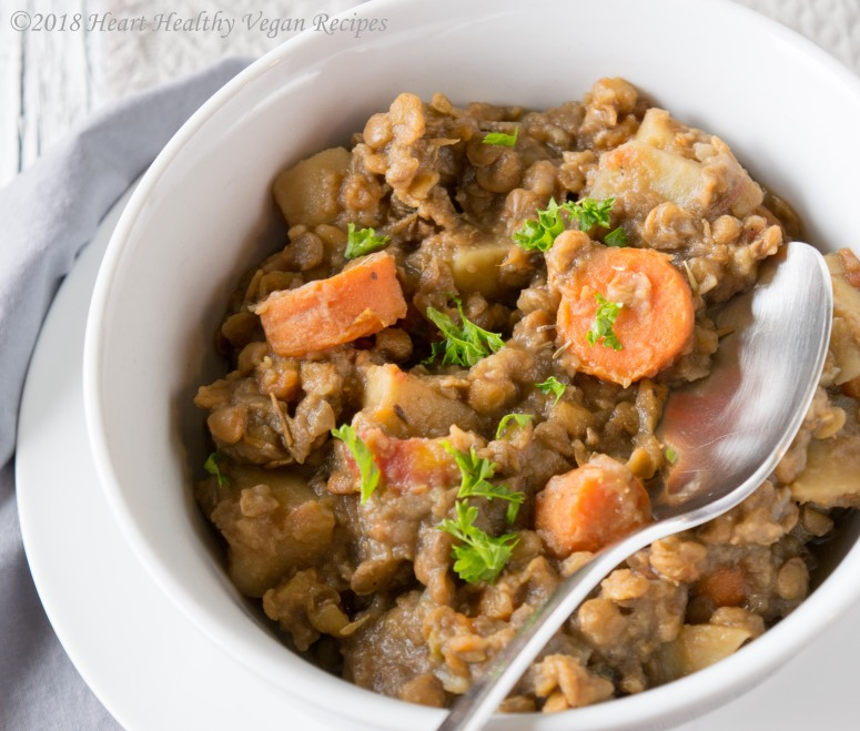 Weeknight Lentil and Potato Stew one bowl square